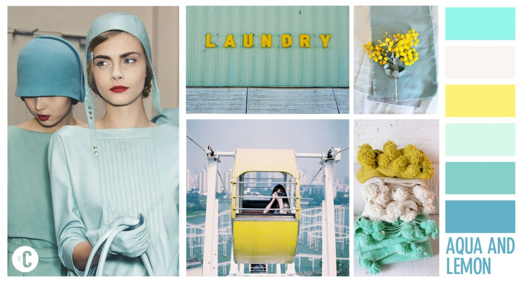 Lemon & Aqua Colour