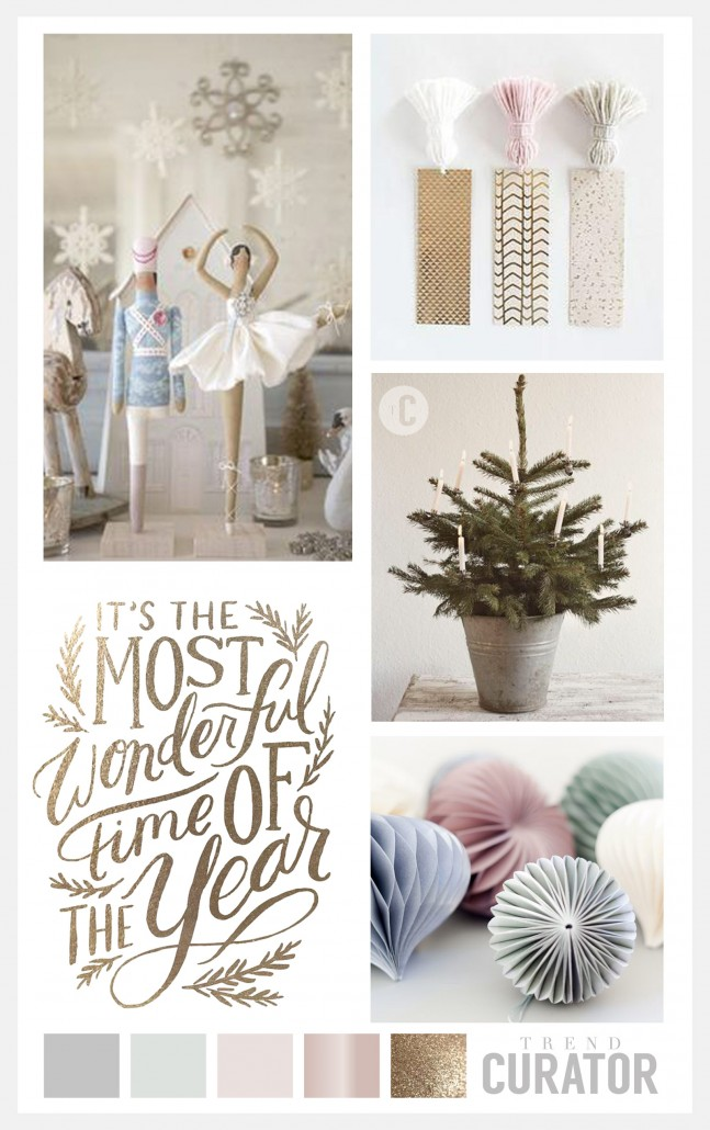 Good as gold christmas trend board