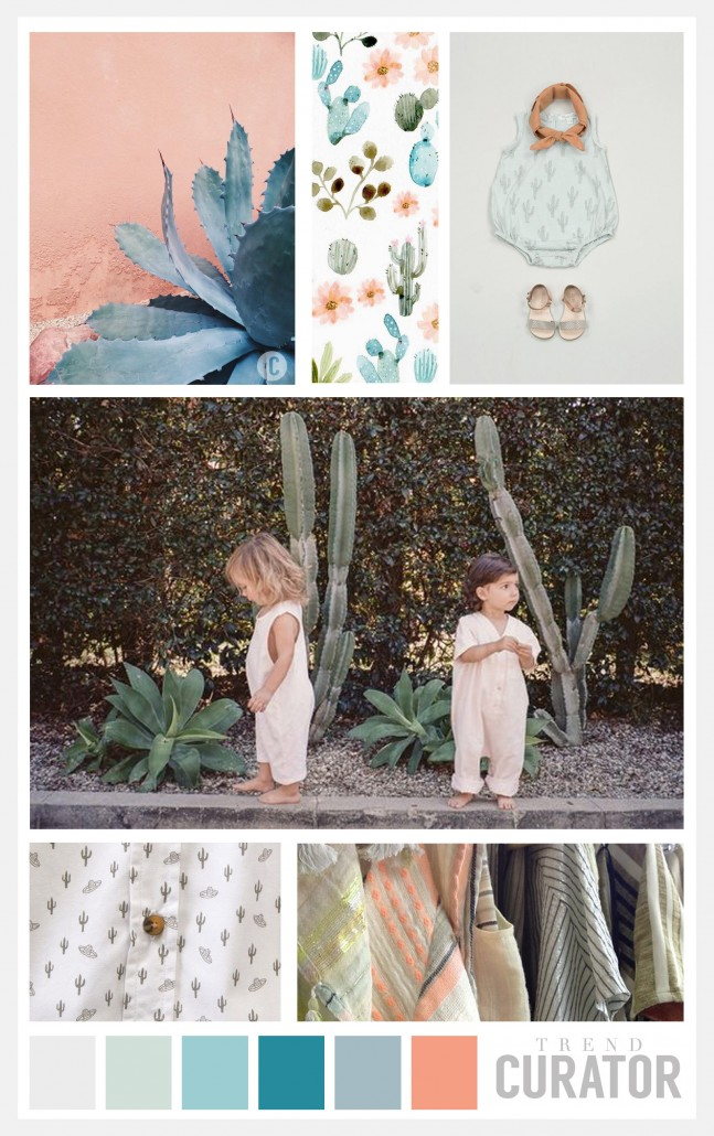 Trend board for children based on San Diego and Mexican influences